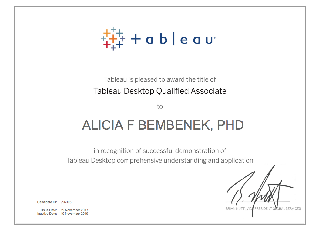 What I Did to Become #CertifiablyTableau – Dreams of Data